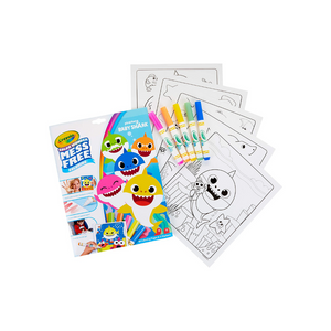 Crayola Baby Shark Wonder Pages, Mess Free Coloring Gift