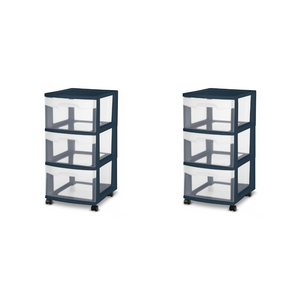 2 Sterilite 3 Drawer Carts (3 Colors)