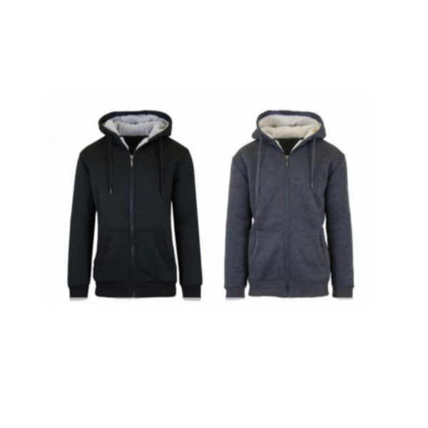 2 Sherpa Lined Fleece Heavy Weight Hoodies