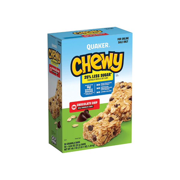 58 Quaker Chewy Chocolate Chip Granola Bars