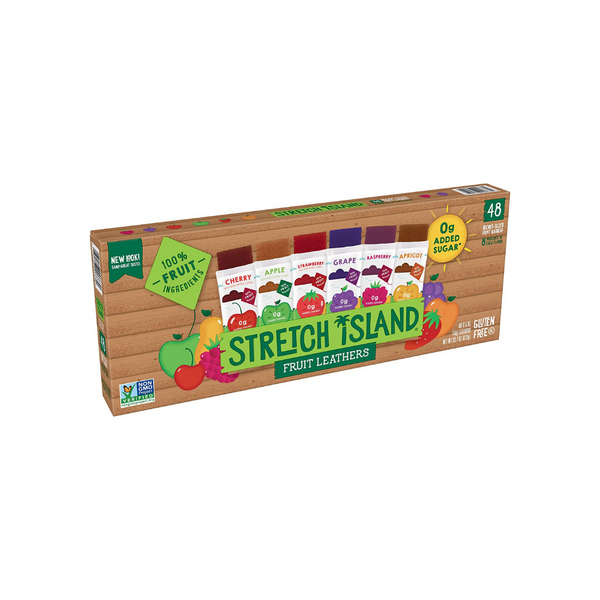 48 Stretch Island Fruit Leather Snacks Variety Pack