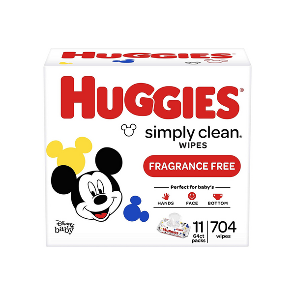 704 Huggies Simply Clean Unscented Baby Wipes