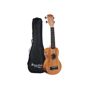 Mahogany Soprano Ukulele for Beginners With Bag
