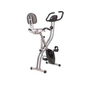 Folding Magnetic Upright Exercise Bike with Pulse Sensors and LCD Display