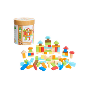 Set Of 75 Early Learning Centre Wooden Bricks