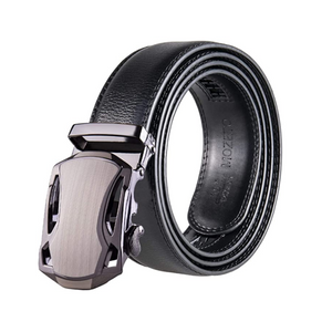 Men's Leather Dress Automatic Slide Click Belts