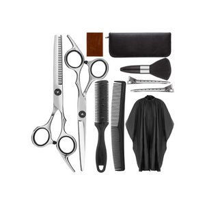 10 Piece Hair Cutting Scissors Kit