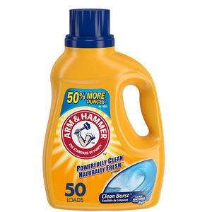 Arm & Hammer Clean Burst 50 Loads Liquid Laundry Detergent
