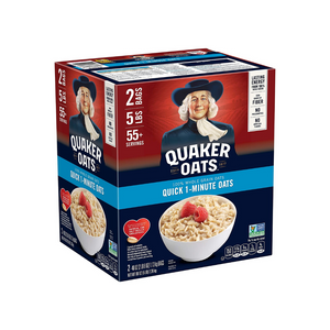 Two 40oz Bags Of Quaker Oats Quick 1-Minute Oatmeal