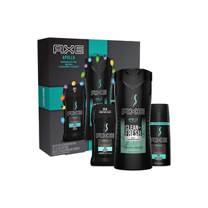 AXE Apollo Gift Set With Body Spray, Deodorant Stick and Body Wash