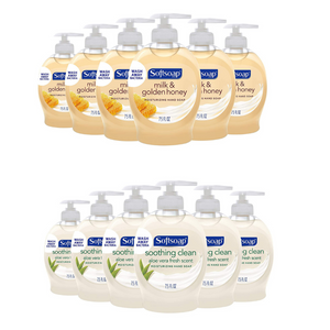 6 Bottles Of Softsoap Moisturizing Liquid Hand Soap