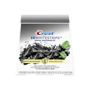 Crest 3D Whitestrips Charcoal Mint Teeth Whitening Kit