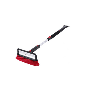 "Extendable 39"" Telescoping Snow Brush with Integrated Ice Scraper"