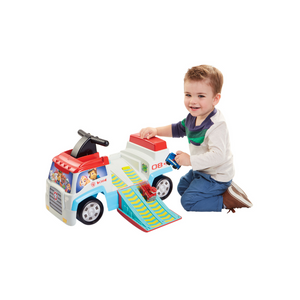 Paw Patrol's Ride-On Includes Chase and Marshall Mini Vehicles