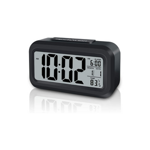 Smart Night Light Digital Alarm Clock With Indoor Temperature