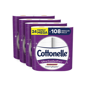 24 Family Mega Rolls Of Cottonelle Toilet Paper