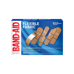 100 Band-Aid Brand Flexible Fabric Adhesive Bandages