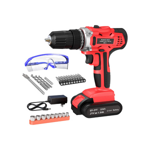 21V Max Power Cordless Drill With Accessories