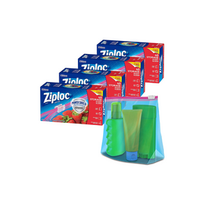 160 Ziploc Slider Storage Quart Bags With New Power Shield Technology