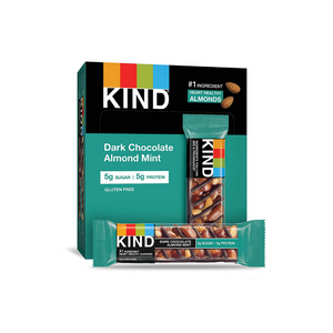 12 Pack Of Kind Dark Chocolate Mint Bars