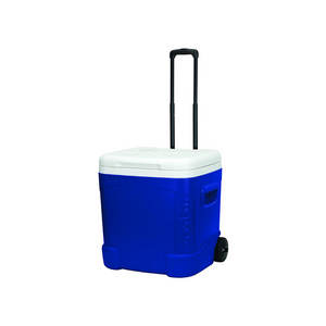 60-Quart Igloo Ice Cube Roller Cooler (Blue/White)