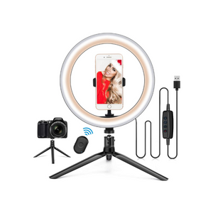 "10.2"" Ring Light with Stand & Phone Holder and Remote Control"