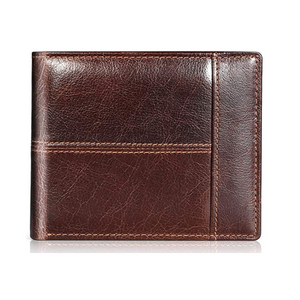 Mens RFID Genuine Leather Bifold Wallet
