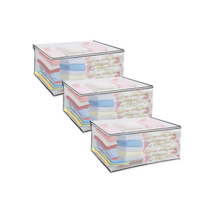 3 Pack Large Clear Storage Bags with Zipper