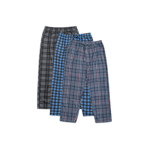 Real Essentials Men's 3-Pack Fleece Pajama Pants (7 Styles)