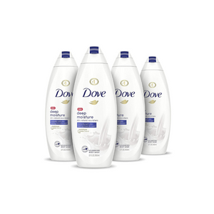 4 Bottles Of Dove Body Wash Deep Moisture