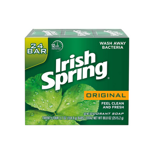 24 Irish Spring Men's Deodorant Soap Bars