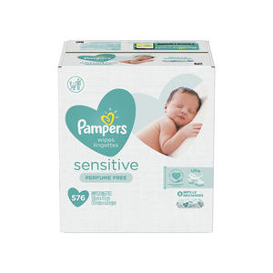 576 Pampers Sensitive Baby Wipes