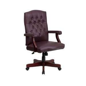 Martha Washington Burgundy LeatherSoft Executive Swivel Office Chair
