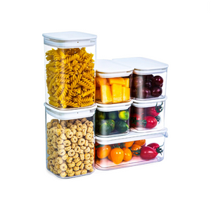 7 Set Clear Food Storage Containers with Lids