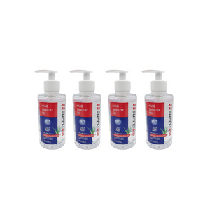 4 Bottles Of Supplyaid 80% Alcohol Hand Sanitizer Gels