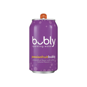 18 Pack Of bubly Passionfruit Sparkling Water Cans