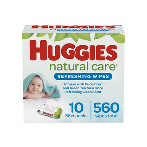 560 Huggies Natural Care Refreshing Baby Wipes