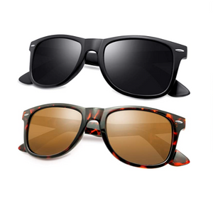 Set Of 2 Retro Square Polarized Sunglasses (5 Styles)