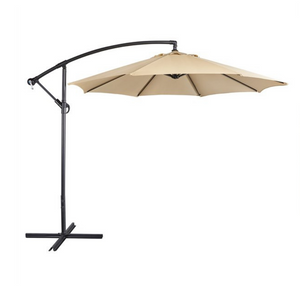 9 Ft Patio Offset Umbrella with Crank & Cross Base