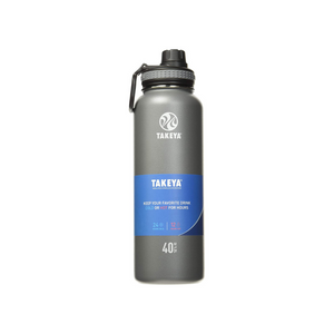 Takeya Originals 40oz Vacuum-Insulated Stainless-Steel Water Bottle