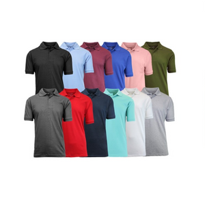 4 Galaxy by Harvic Men's Assorted Pique Polo Shirts