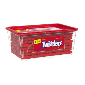 5 Pounds Of Twizzlers Twists Strawberry Flavored Chewy Candy