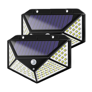 Set Of 2 Solar 100LED Lights