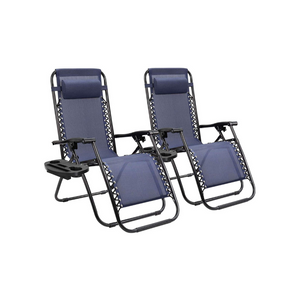 Set Of 2 Zero Gravity Chairs (3 Colors)
