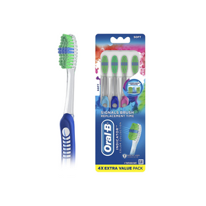 4 Oral-B Indicator Color Collection Toothbrushes
