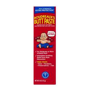 Boudreaux's Butt Paste Maximum Strength Diaper Rash Ointment 4oz. Tube