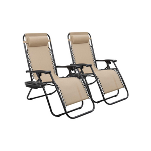 Set Of 2 Zero Gravity Chairs (4 Colors)