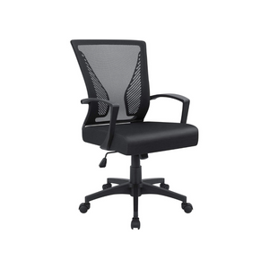 Mid Back Swivel Lumbar Support Office Chair