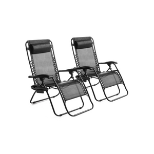 Set of 2 Outdoor Zero Gravity Bungee Lounge Chairs