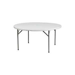 Flash Furniture 5-Foot Round White Plastic Folding Table